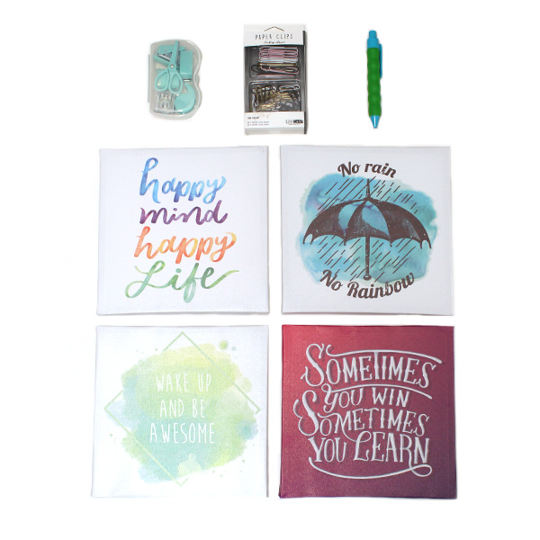 motivational wall pictures & stationery set - inspiration