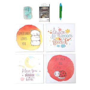 motivational wall pictures & stationery set - kids