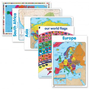 Geography know your world wall chart posters